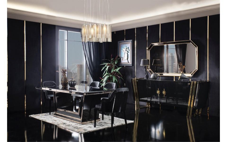 Black Gold Luxury Yemek Odası Takımı