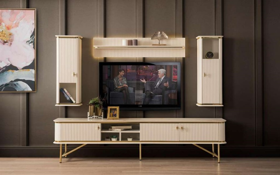 Plazzo Beyaz Tv Ünitesi